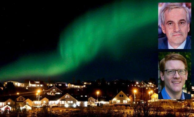 «Staten har forlatt oss» har blitt et omkved i nord. Sentralisering må snus til satsing, skriver kronikkforfatterne. Jonas Gahr Støre og Martin Henriksen.