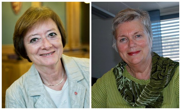 UTFORDRER REGJERINGENS PENSJONSPOLITIKK: Lise Christoffersen, Aps pensjonspolitiske talsperson og Kirsti Kolle Grøndahl, leder av Aps eldreråd.