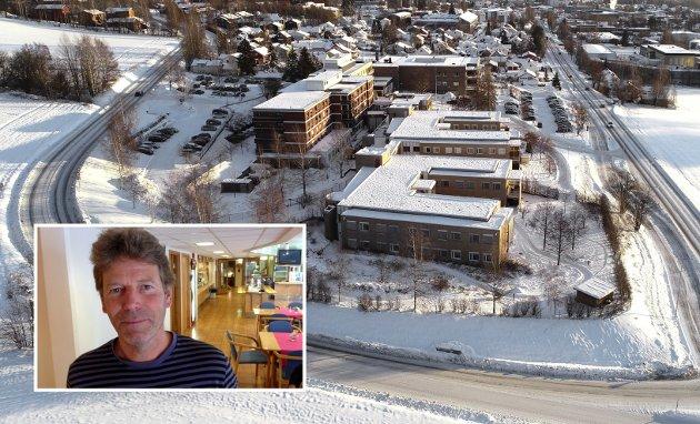 HELSEHUSET: Kommunedirektøren foreslår å skjære ned bemanninga på Lillehammer helsehus med 15 årsverk og redusere antall sengeplasser med 12. Gjør han det for å provosere eller er han seriøs, spør Øyvin Aamodt (Rødt).