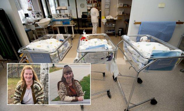 BARSEL: Når det kuttes i antall liggedøgn på sykehuset, må vi ha flere helsesykepleiere og jordmødre ute i kommunene, skriver Anne Lise Fredlund og Linda Marie Enger, fylkesleder og medlem i kvinnepolitisk utvalg, Innlandet SV.