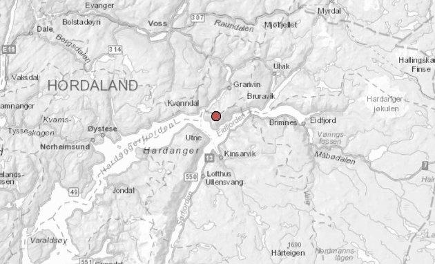 Nordover: Innbyggarane på Oksenhalvøya ønsker seg nordover mot Voss og Granvin.