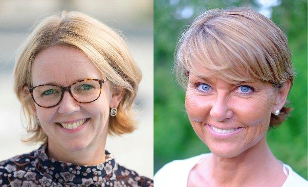 STEMMER: Anne Bjertnæs og Hanne Alstrup Velure mener politikk for by og bygd må henge sammen - og at det trengs tydelige stemmer som målbærer Innlandets interesser inn i sentralpolitikken.