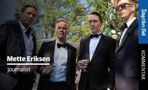 PÅ SKJERMEN: Henrik (Tobias Santelmann), Jeppe (Jon Øigarden), Adam (Simon Berger) og William (Pål Sverre Hagen) er fire menn i finansbrasjen som trår langt over moralske grenser i jakt etter spenning.