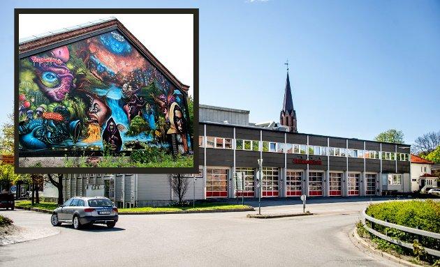 SLÅ SAMMEN: Fredrikstad SV vil fysisk flette sammen brannstasjonens lokaler med kulturhuset St. Croix for å skape det de mener er byens kuleste kulturkvartal.