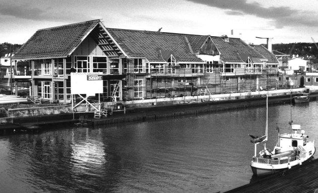 Sjøhuset/Kanalen i Moss under oppføring