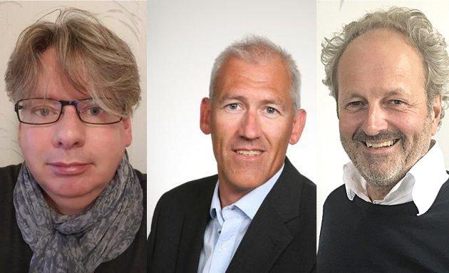 Peter Lindelöf, professor i entreprenørskap, Jan Velvin, instituttleder og Jan Erik Grindheim, førsteamanuensis i organisasjon og ledelse.