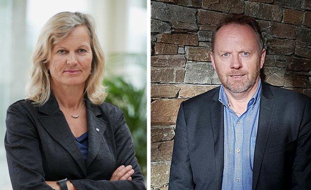 NHO Reiseliv-direktør Kristin Krohn Devold og regionstyreleder i NHO Reiseliv Nord-Norge Arne Kjell Nyheim.