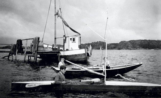 Båtliv: På familiestedet «Fjeldly» var det alltid båter og kanoer som vi rodde og seilte med.alle foto: privat