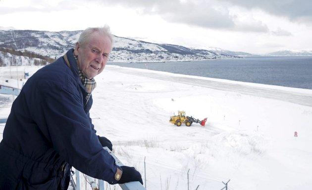I mange år  har Roald Kristensen kjempet for at Narvik skal få beholde flyplassen i Framneslia. Arkivfoto.