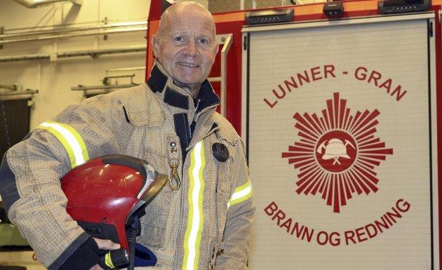 Arne Moksnes, pensjonert brannsjef i Lunner og Gran. Bildet er fra 2015.
