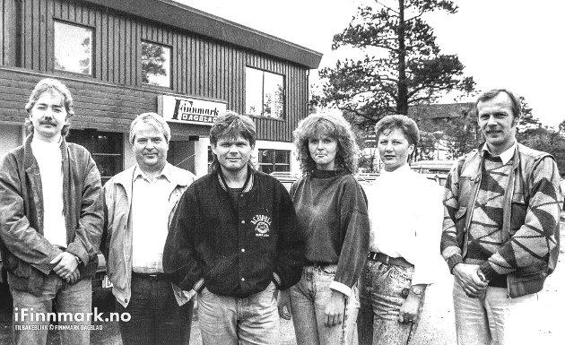 GAMLE FD: Alta-kontoret til FD. 17.09.1988. Vi gjør oppmerksom på at bildene er opphavsrettslig beskyttet og ikke kan kopieres eller publiseres andre steder uten nærmere avtale