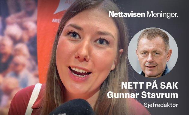 VALGETS TAPER: AUF-leder Astrid Hoem opplevde et fall på 4,4 prosent fra forrige skolevalg.