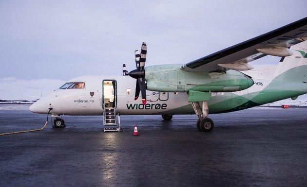 BEKYMRET: Widerøe frykter konsekvensene for flytrrafikken i Nord-Norge etter at regjeringen la frem sin klimaplan fredag. Foto: Nordlys arkiv