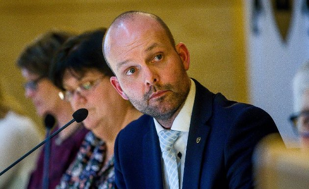 Sindre Martinsen-Evje, ordfører i Sarpsborg. (Foto: Johnny Helgesen)