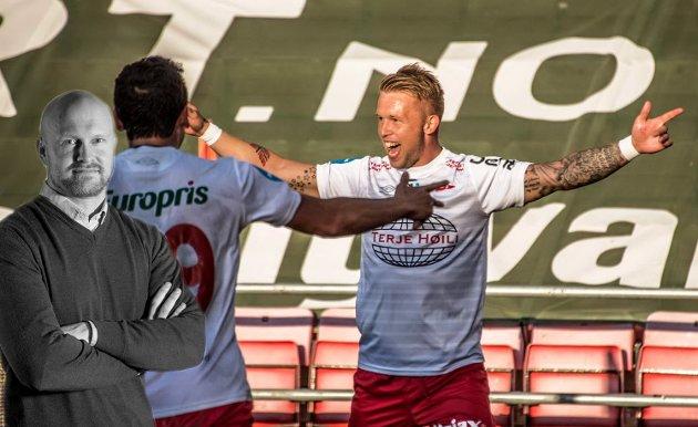 BYGG ORGANISASJON: Tim Nilsen og Kjell Rune Sellin skal denne sesongen skyte FFK opp i OBOS-ligaen. Joacim Jonsson mener at det viktigste nå blir å bygge organisasjon.