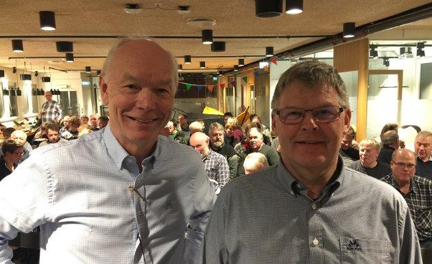 RADARPAR: Stortingsrepresentant Per Olaf Lundteigen (Sp) og professor Harald Volden debuterte i Ringebu som et meget samkjørt radarpar med fag og politikk som grunnlag for endring av norsk jordbruksproduksjon. Nå utfordrer de etablerte sannheter. Også for å imøtekomme økte krav fra forbrukere og hensyn til nye klimakrav.