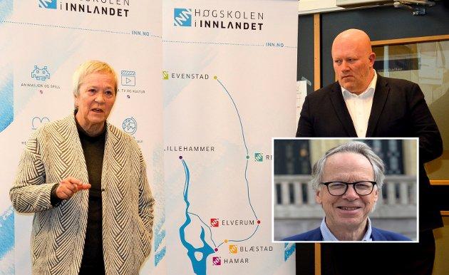 BØNNHØRT: Peer Jacob Svenkerud, dekan på Rena/Lillehammer, ble bønnhørt og tar over  etter Kathrine Skretting som rektor ved Høgskolen i Innlandet. Han vil bli utfordret til å endre den voksende direktørepedimien i Innlandets akademia, skriver Hallvard Grotli.