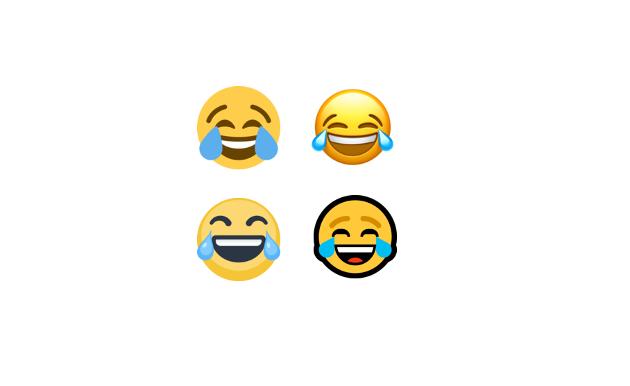 «LER SÅ JEG GRINER»: Til tross for at det egentlig er ganske voldsomt å le så man griner, er bruken av denne populære emojien veldig liberal.  Nina sier hun bruker den som påheng til nesten alt mulig.