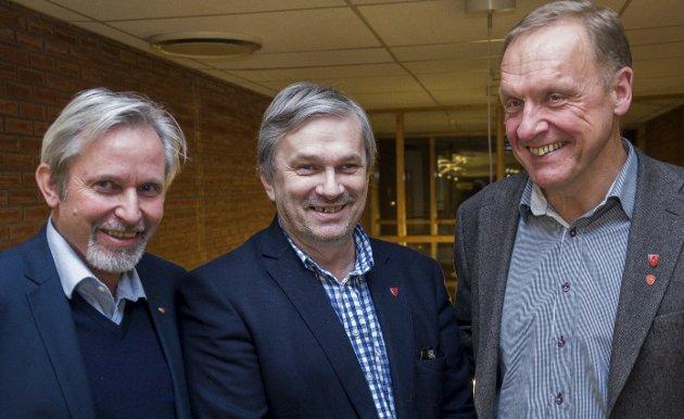 Nå må ordførerne bli tydelige på hva de mener, krever nyhetsredaktør Øyvind Lien. Fra venstre Per R. Berger, Kjell B. Hansen og Lars Magnussen.