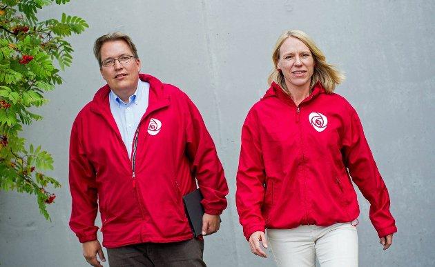 Anniken Huitfeldt og Sverre Myrli er to av listetoppene til Akershus AP.