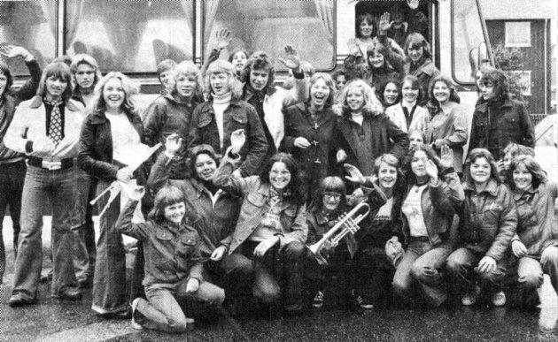 Bodø Folkeskoles musikkorps anno 1975