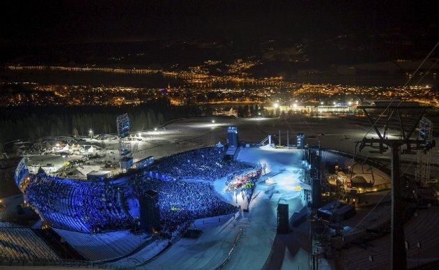STORSLÅTT: Fra åpningsseremonien fredag. Photo: Jon Buckle for YIS/IOC