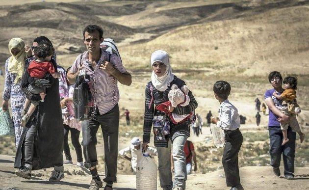 TIL HALDEN?: To syriske familier flykter fra krigen i hjemlandet. Tusenvis kommer nå til Europa og mange av de igjen finner veien til Norge. Arkivfoto