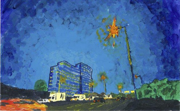 Lys i mørket: Av og til er kunsten lyset i mørket, skriver Tom Skjeklesæther. Maleri: Knut Gustav Ravn Skjeggfagre Valand Skjeklesæther