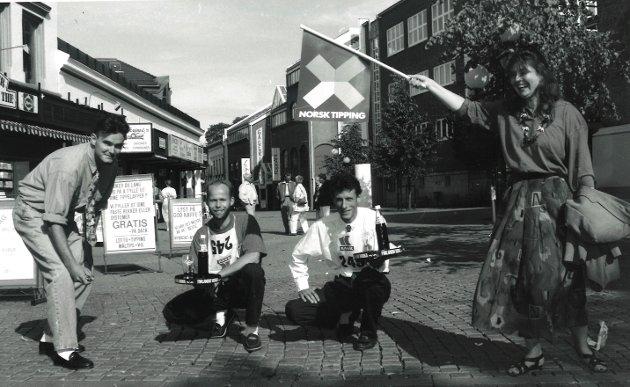 Fra venstre: Espen Thømt, Per Arne Strand, Sonny Christiansen og Solveig Johansson, august 1991.