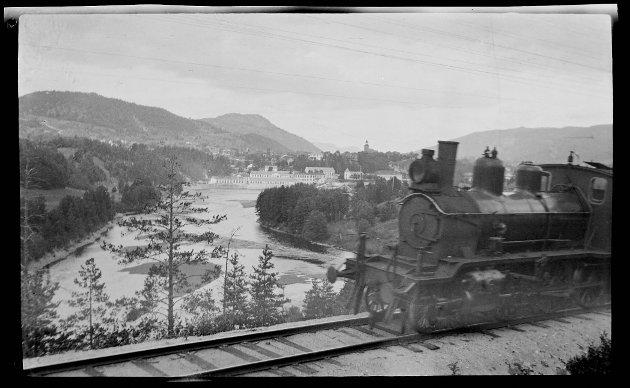 Damplokomotiv i Kongsberg.
