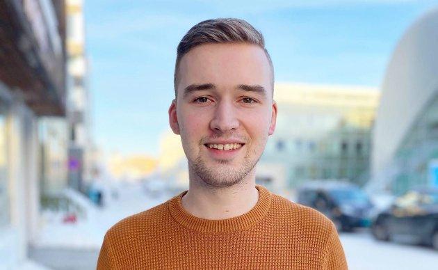 Kristian Fagerli, leder i AUF i Troms