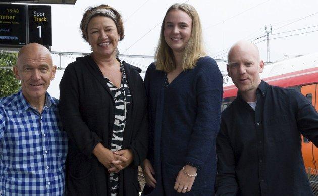 Poeten: Maria Bye Brattbakk skal lese dikt når Sommertoget stopper i Larvik. Hun er en av de dyktige sommervikarene våre.Foto: Kjersti Bache