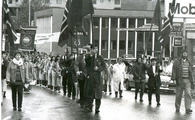 Lang tradisjon: 1. mai 1992 var det en historisk alliansen i kampen mot EF i Odda.
