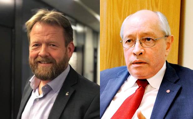 Harald Oskar Buttedahl (t.v.) og Martin Kolberg