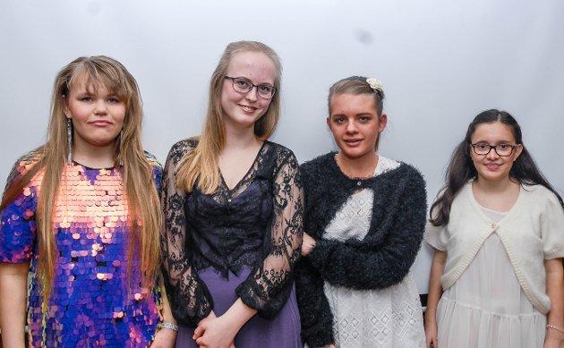 Emilie Gunnerød Kristoffersen, Julie Staurvik Brurberg, Ida Marie Eidet Kristensen og Isabelle Christine Gjertner Kobro.