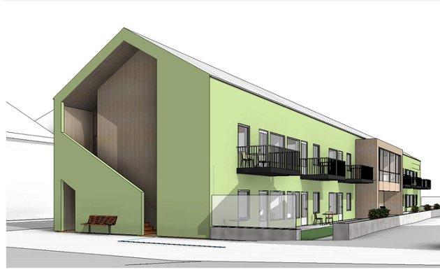 Eiendomsdrift har planene klare for et nytt bygg i to etasjer med 12 omsorgsleiligheter i Fredrik Selmers gate 1-5.