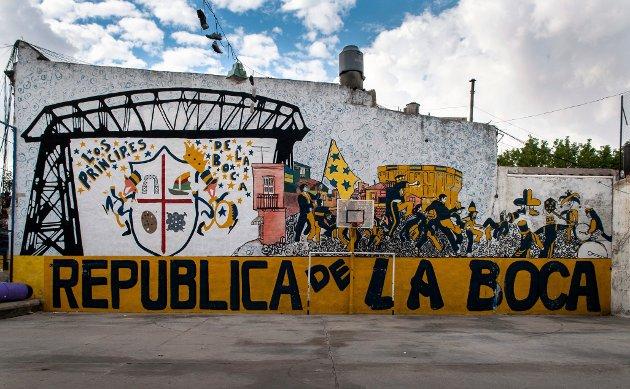 LA BOCA: I det gamle, slitne havnekarteret La Boca begynte fotballspilleren Maradona i sin ungdom i klubben Boca Juniors.   FOTO: Jörgen Ulvsgärd / TT