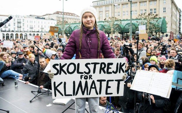 SVENSK KLIMAAKTIVIST: Greta Thunberg har engasjert mange unge. Det har ført til en rekke skolestreiker over hele verden. FOTO: Daniel Reinhardt - AP