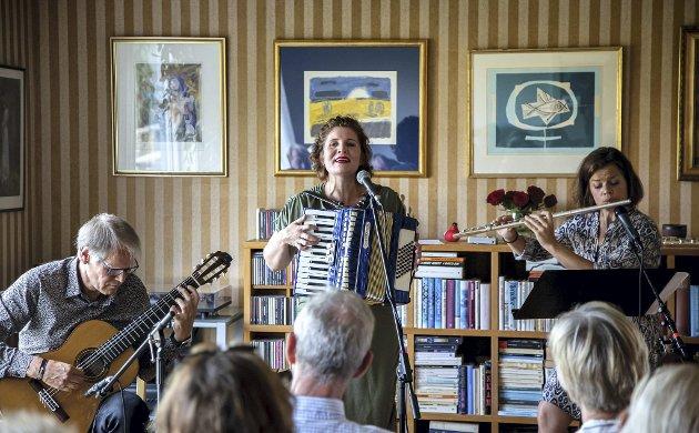 Strålende samspill: Trioen Tango på Tvers fikk vist mangfoldet i i tangomusikken under lørdagens konsert i Falchåsen.                                              begge foto: harry johansson
