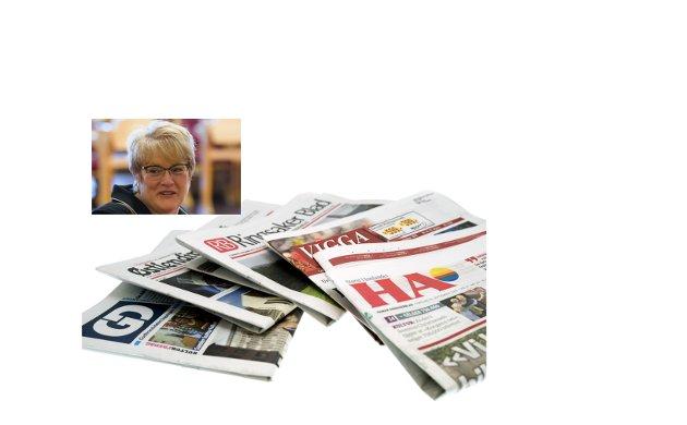 Presse: Vi har om lag 240 aviser i Norge i dag, og antallet har holdt seg stabilt lenge. Regjeringen og kulturminister Trine Skei Grande vil endre mediestøtten