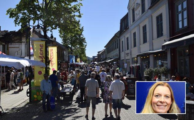 Gågata i Lillehammer må sikres mot konkurrerende handelssenter andre steder i byen, skriver Ingunn Trosholmen.
