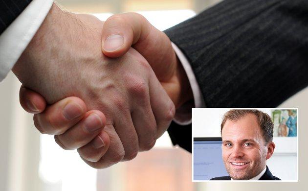 KONTRAKTSPARTER: Suksesskriteriene i krevende tider er dialog, åpenhet og løsningsvilje, skriver advokat Kristian Berg Tomren.