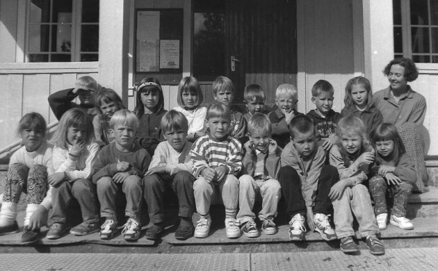 1. klasse ved Fredheim skole. 15. september 1993.