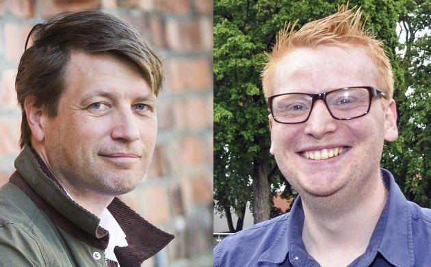 Ole Richard Holm Olsen og Fredrik Holm i Halden Høyre.