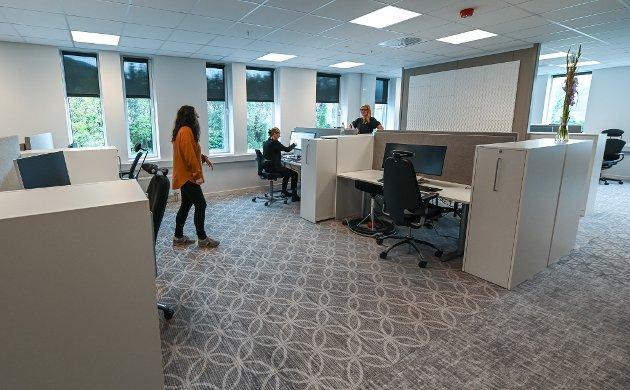 NAV økonomi og stønad samt NAV dokumentsenter offesielt åpnet. Slik har de det på en av Ranas største og nyeste kontorarbeidsplasser.