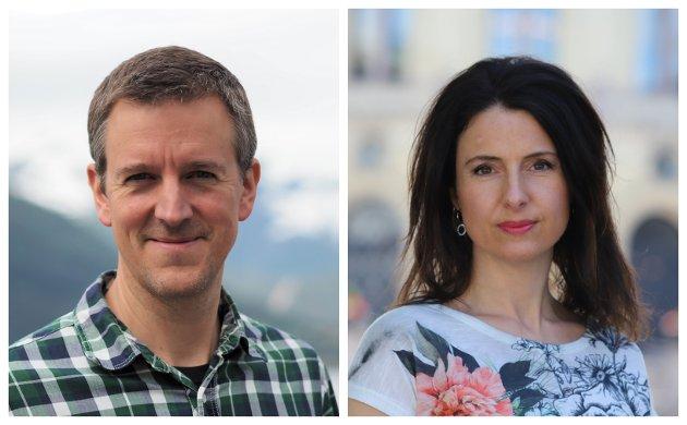 POLITI: Erling Sande, stortingskandidat for Sogn og Fjordane Senterparti og Jenny Klinge, justispolitisk talsperson, Senterpartiet.