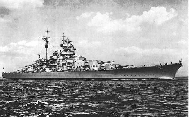 SENKET: Krigsskipet Bismarck ble senket i 27. mai 1941.