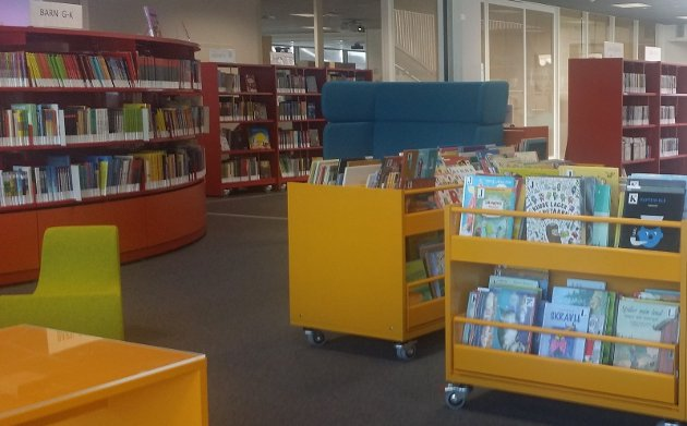 Barneavdelingen på Kongsberg bibliotek