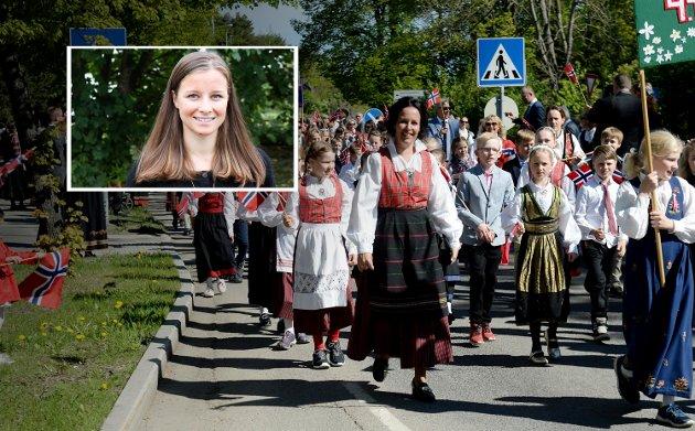 Er ikke egentlig målet med integreringen at vi kan møtes i gatene og feire vårt land, uavhengig av opphav og opprinnelse. At vi kan ferie Norge i fellesskap, som ett folk og ett Norge, spør Karoline Aarvold.