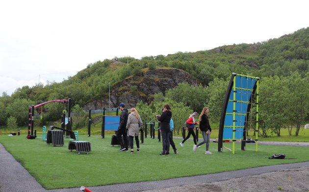 Bratten aktivitetspark åpnet ny treningspark.